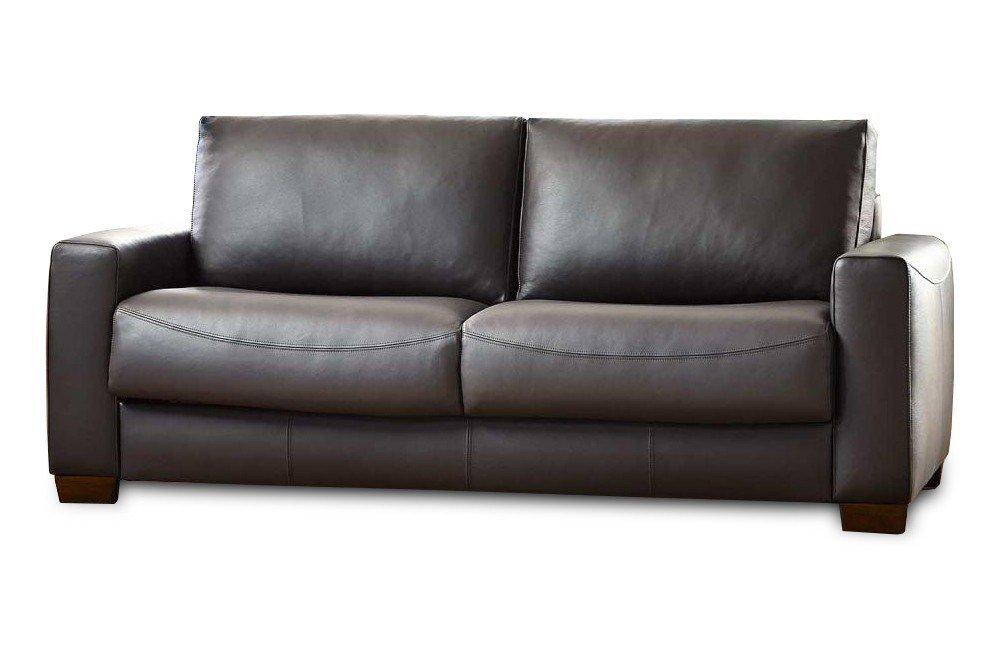 ledersofa dunkelbraun. Black Bedroom Furniture Sets. Home Design Ideas