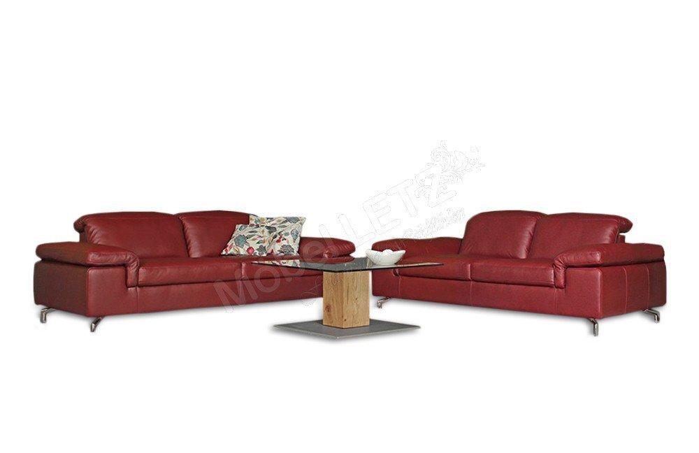 Ledergarnitur Cavallo rot von Casada | Möbel Letz - Ihr Online-Shop