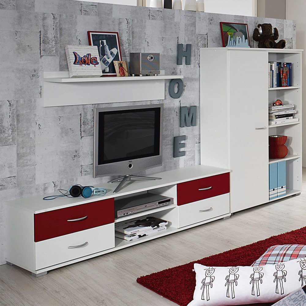 jugendzimmer noosa in wei rot von rauch m bel letz ihr online shop. Black Bedroom Furniture Sets. Home Design Ideas