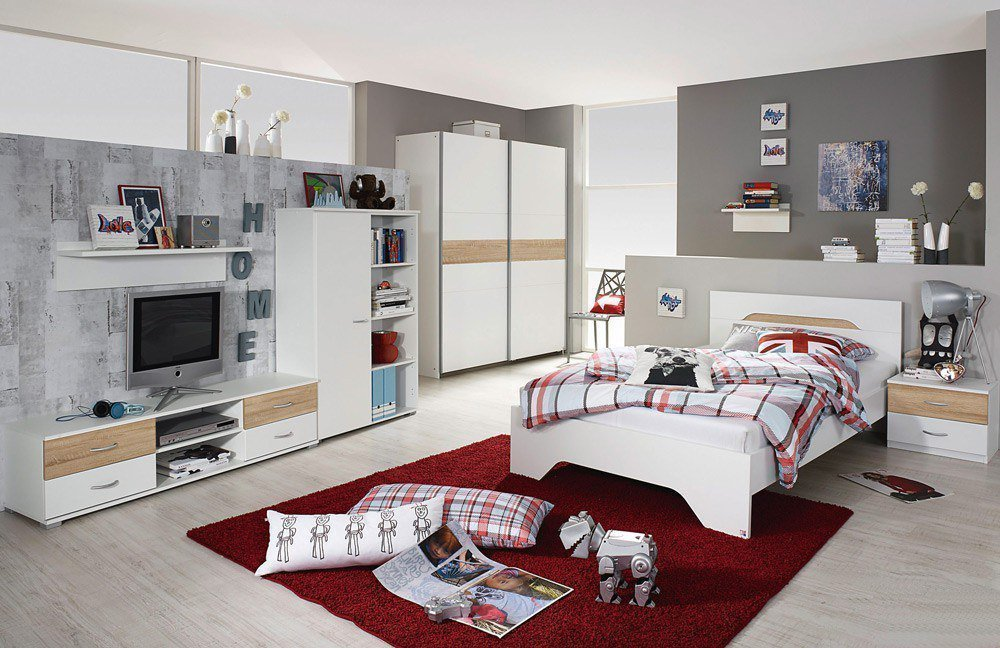 jugendzimmer noosa von rauch in wei eiche m bel letz ihr online shop. Black Bedroom Furniture Sets. Home Design Ideas
