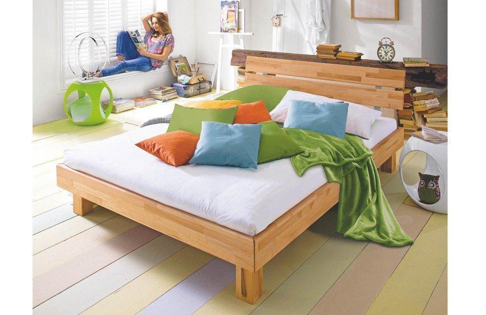 Holz-Bett varese von Modular Primolar Kernbuche | Möbel Letz - Ihr ...
