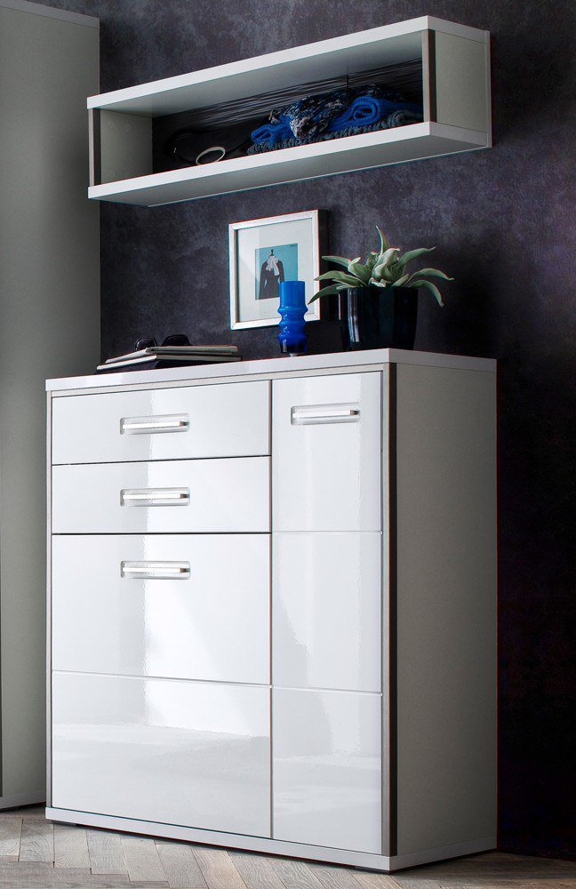 garderobe trento malto hochglanz wei mca furniture. Black Bedroom Furniture Sets. Home Design Ideas