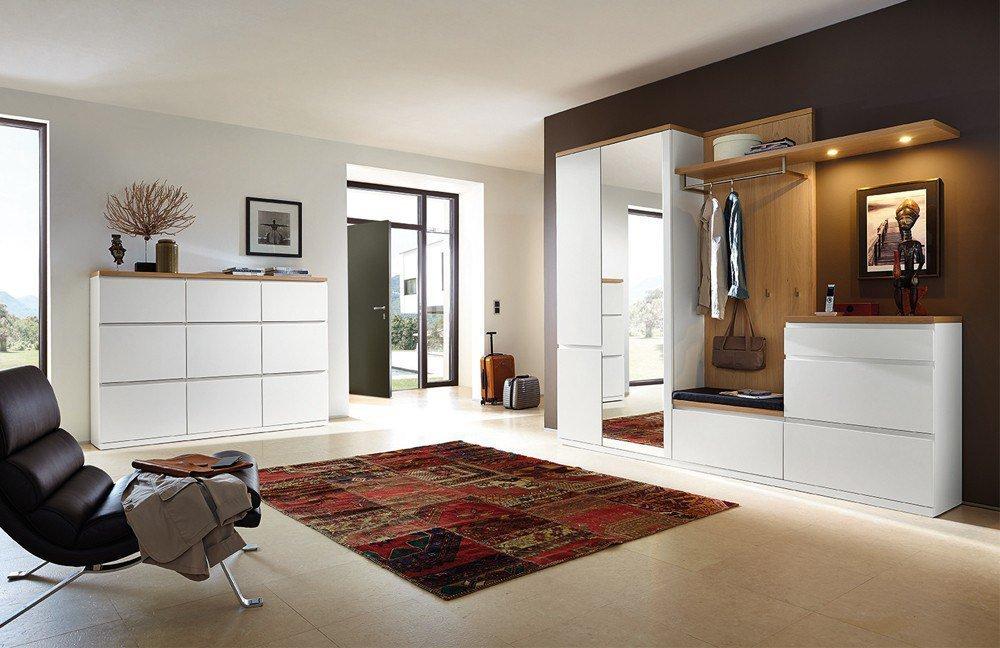 garderobe linaro enjoy in lack wei eiche sand von rmw. Black Bedroom Furniture Sets. Home Design Ideas