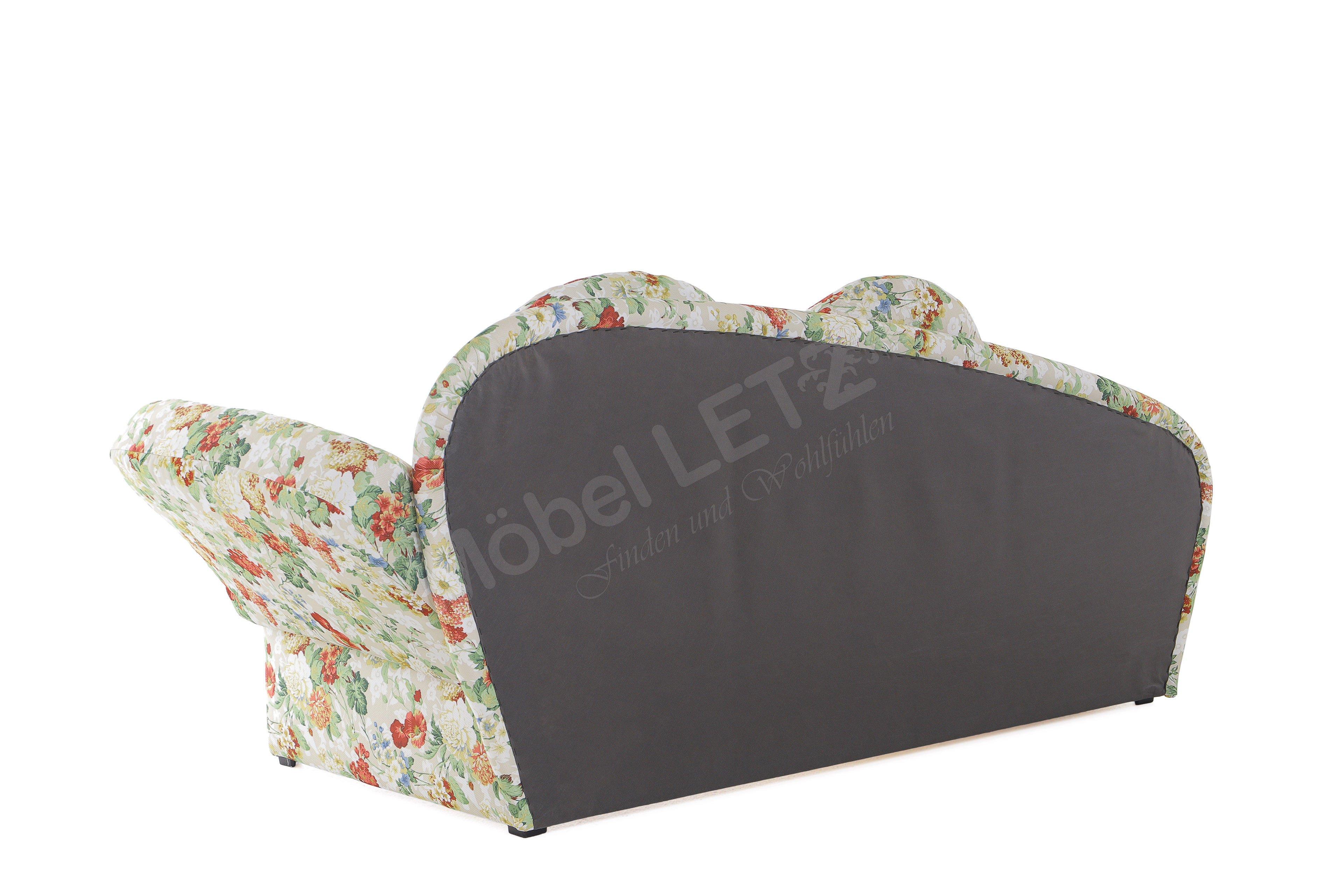 schlafsofa creme tim von nehl mit blumenmuster m bel letz ihr online shop. Black Bedroom Furniture Sets. Home Design Ideas