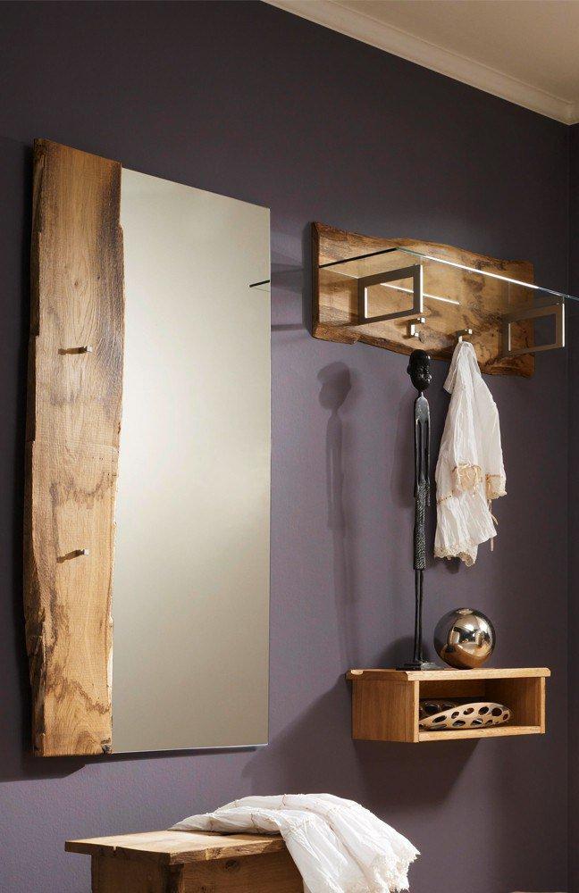 Garderobe Woodline aus massivem Eichenholz, 3-teilig SKALIK MEBLE ...