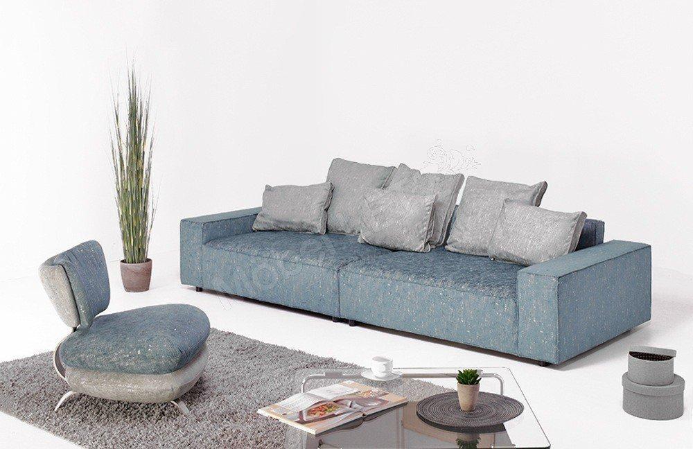 Megasofa blau  New Look Möbel Dario II Polstergarnitur blau-silber | Möbel Letz ...