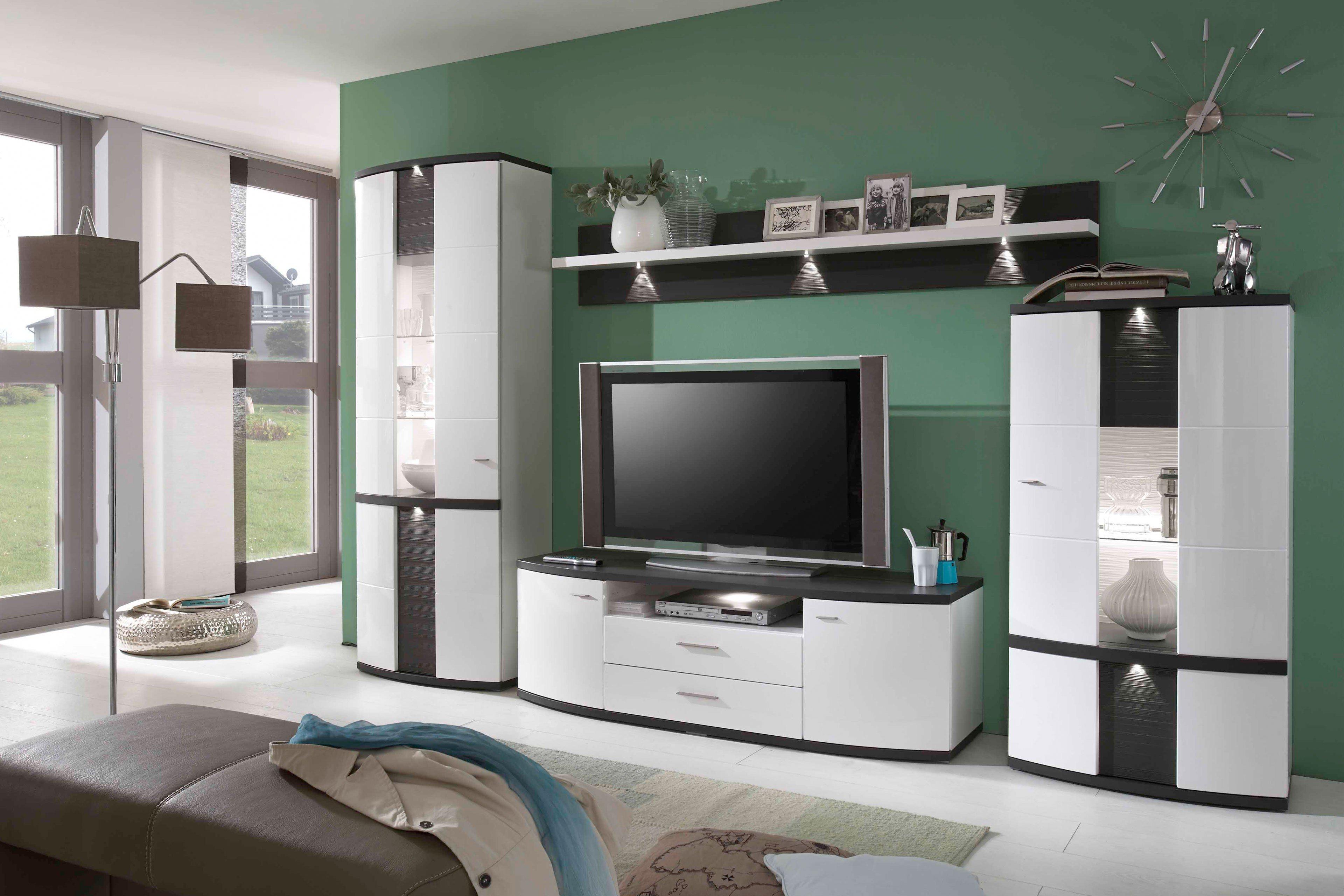 ideal m bel wohnwand cabana 189 wei mit absetzung m bel. Black Bedroom Furniture Sets. Home Design Ideas