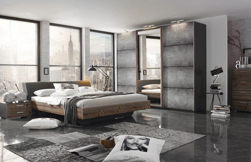 schlafzimmer streetway rauch select m bel letz ihr online shop. Black Bedroom Furniture Sets. Home Design Ideas