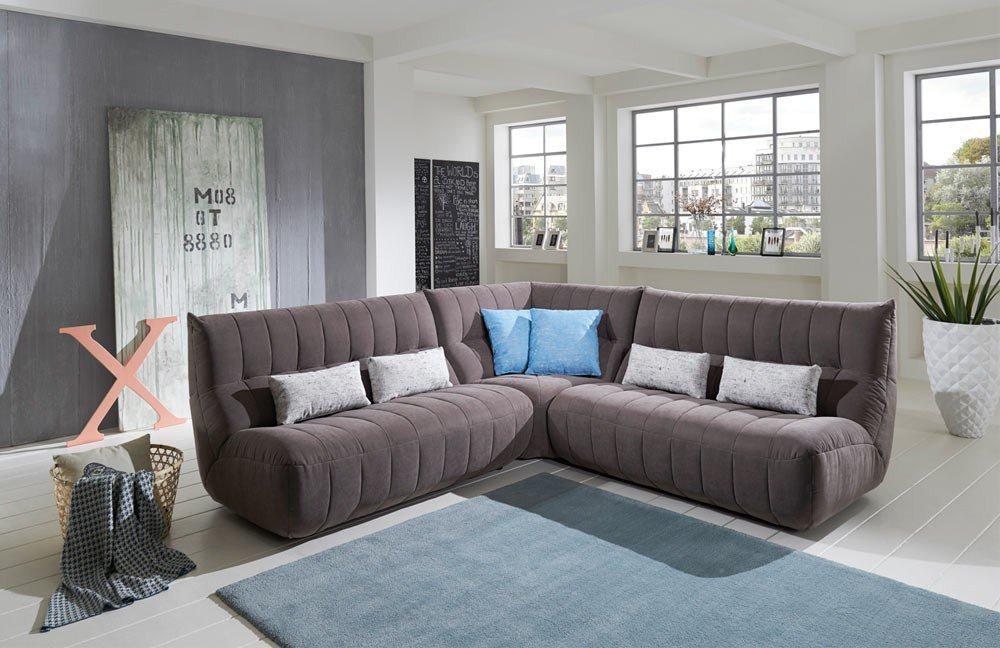 new look m bel mirella ecksofa grau m bel letz ihr online shop. Black Bedroom Furniture Sets. Home Design Ideas