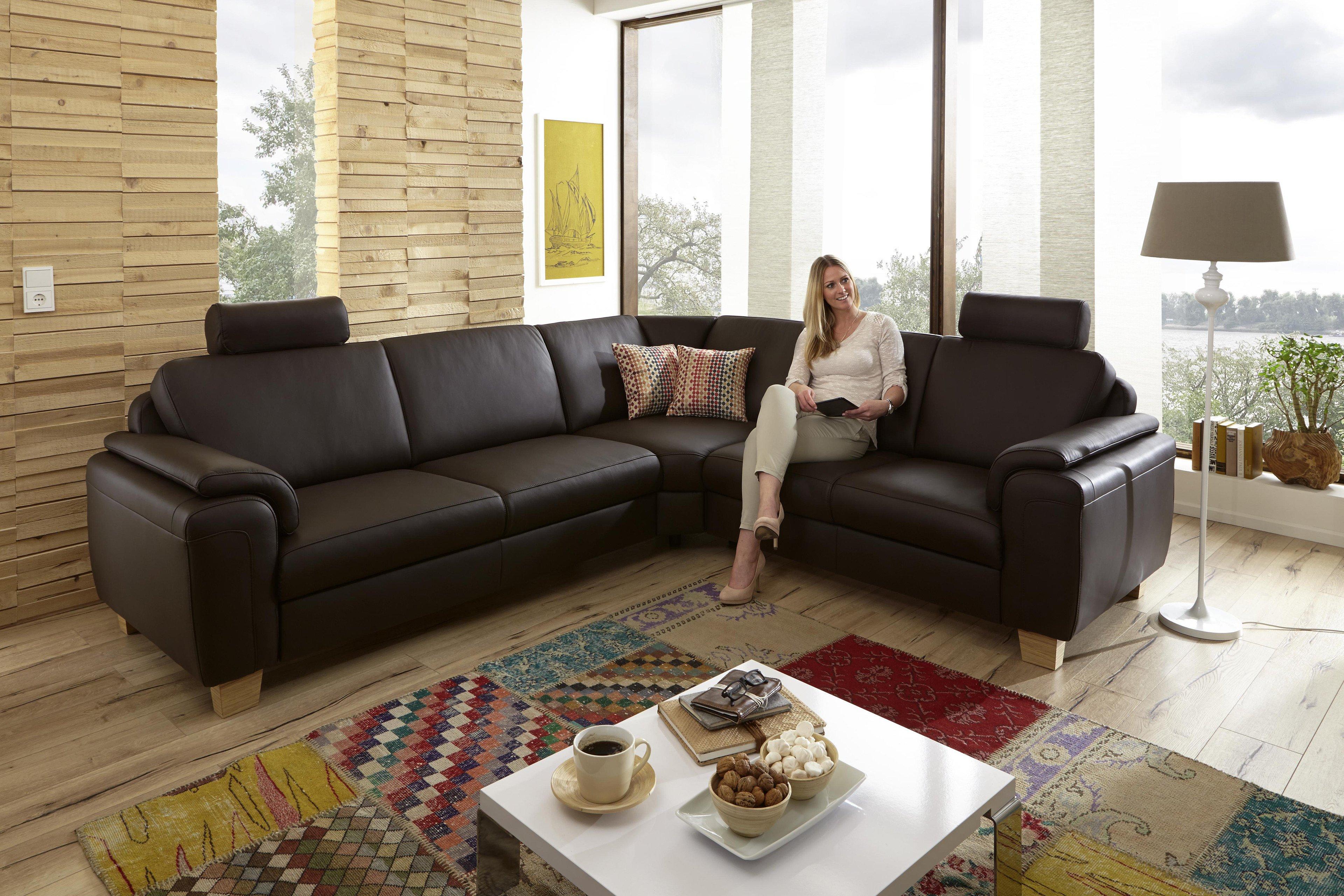 polinova sara ledersofa braun m bel letz ihr online shop. Black Bedroom Furniture Sets. Home Design Ideas