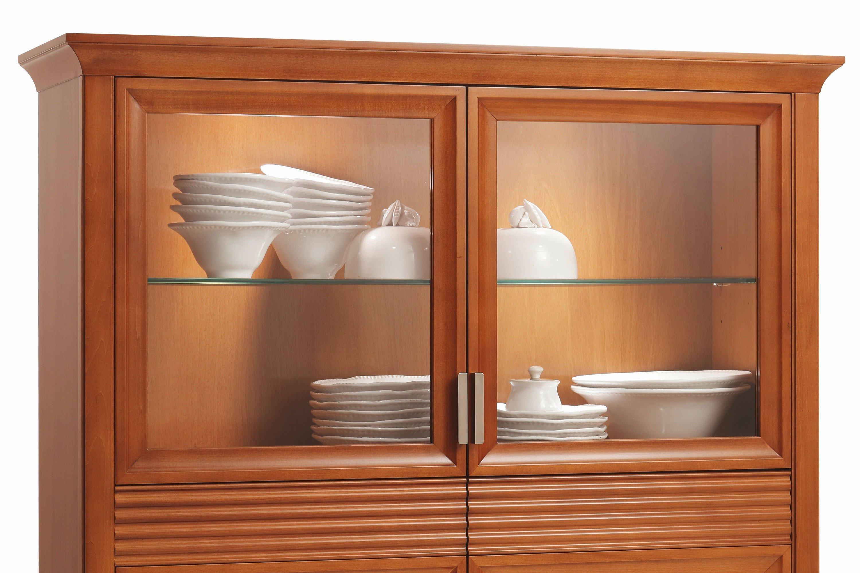 vitrine 7239 luna kirschbaum von selva m bel letz ihr online shop. Black Bedroom Furniture Sets. Home Design Ideas