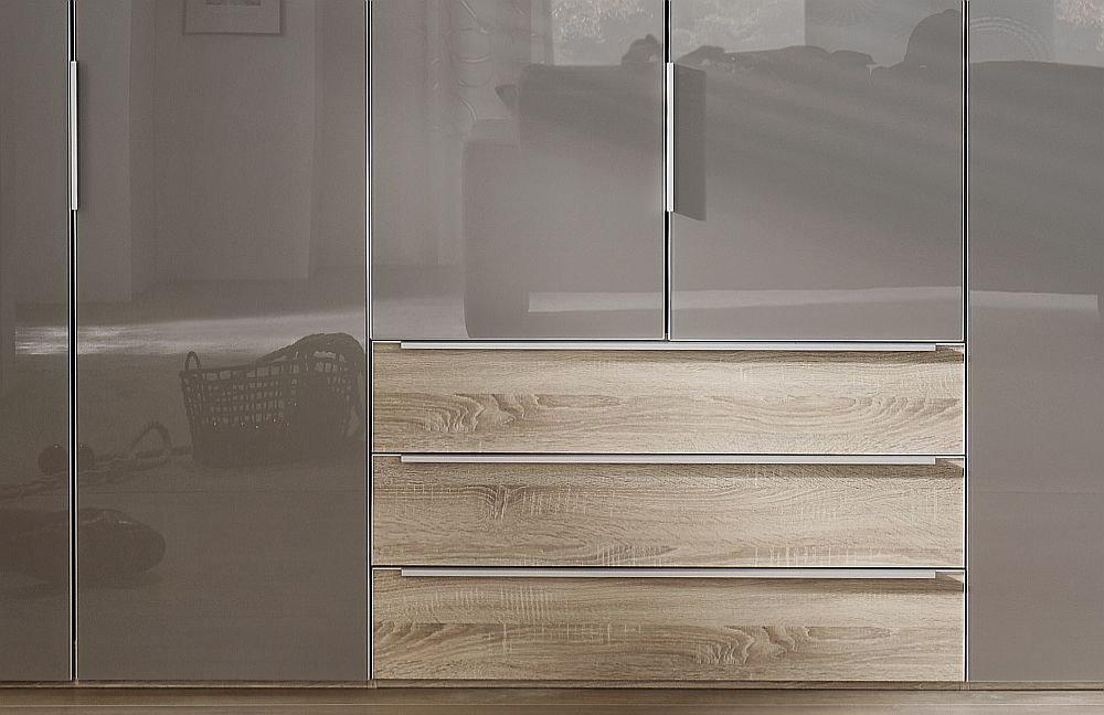 nolte horizont 10500 kleiderschrank glas samtbraun m bel letz ihr online shop. Black Bedroom Furniture Sets. Home Design Ideas