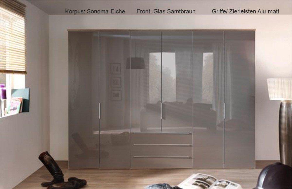 Nolte Horizont 10500 Kleiderschrank Glas samtbraun   Möbel Letz ...