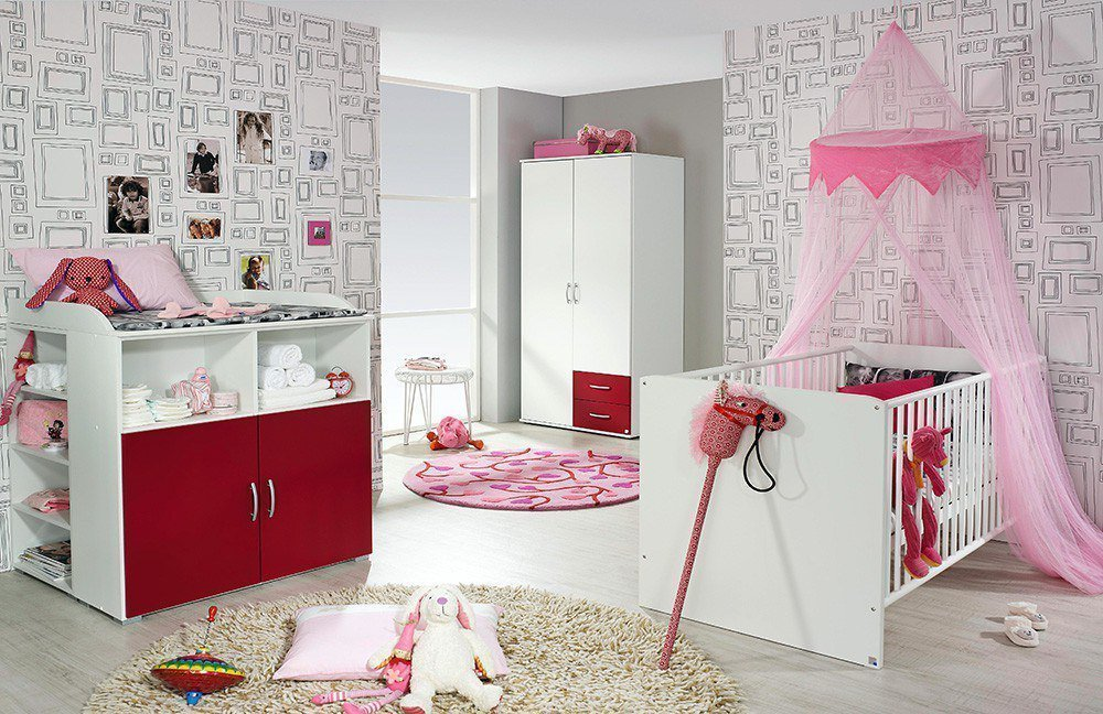 rauch daniele babyzimmer wei rot m bel letz ihr online shop. Black Bedroom Furniture Sets. Home Design Ideas