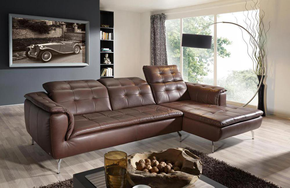ultsch verona ledersofa braun m bel letz ihr online shop. Black Bedroom Furniture Sets. Home Design Ideas