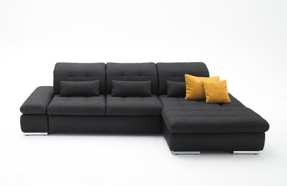 ecksofa dunkelgrau. Black Bedroom Furniture Sets. Home Design Ideas
