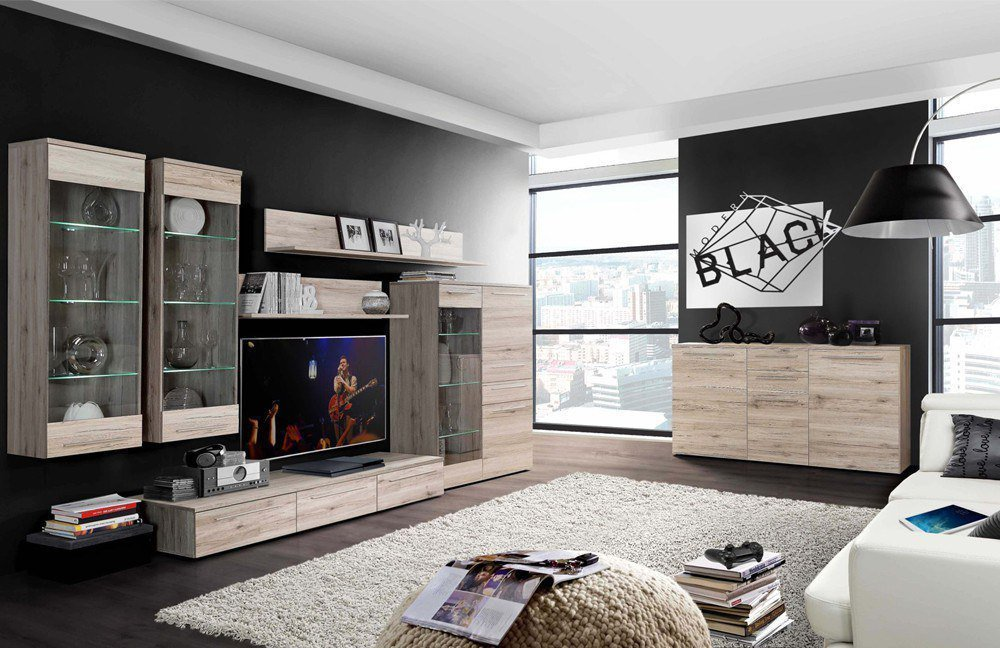 wohnwand savoy von forte m bel letz ihr online shop. Black Bedroom Furniture Sets. Home Design Ideas
