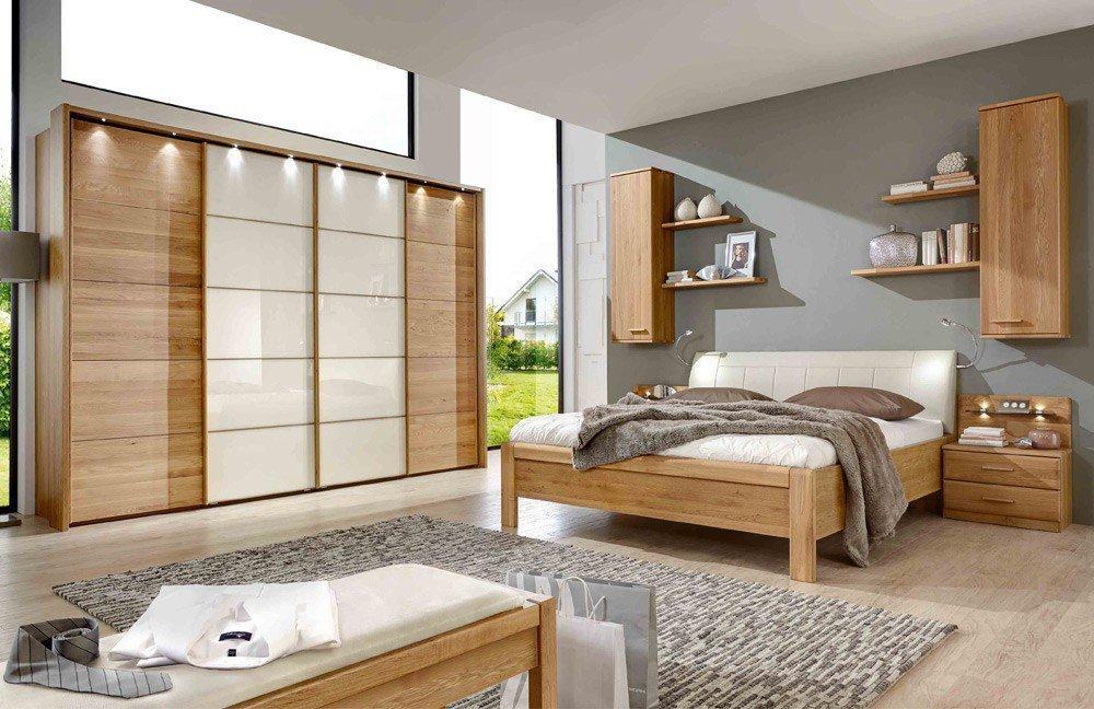 Wiemann Toledo Komplett-Set Eiche/Glas | Möbel Letz - Ihr Online-Shop