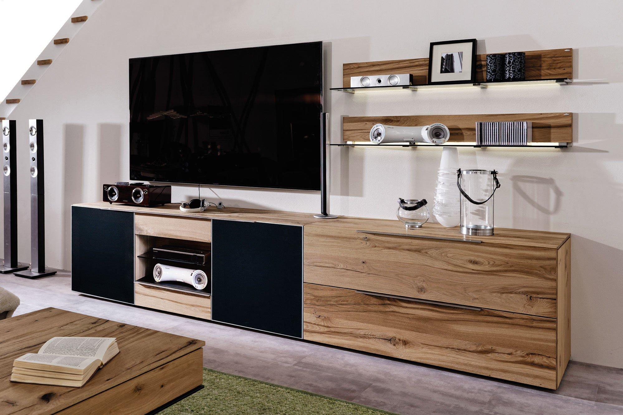 voglauer wohnwand v alpin eiche altholz akustikstoff. Black Bedroom Furniture Sets. Home Design Ideas