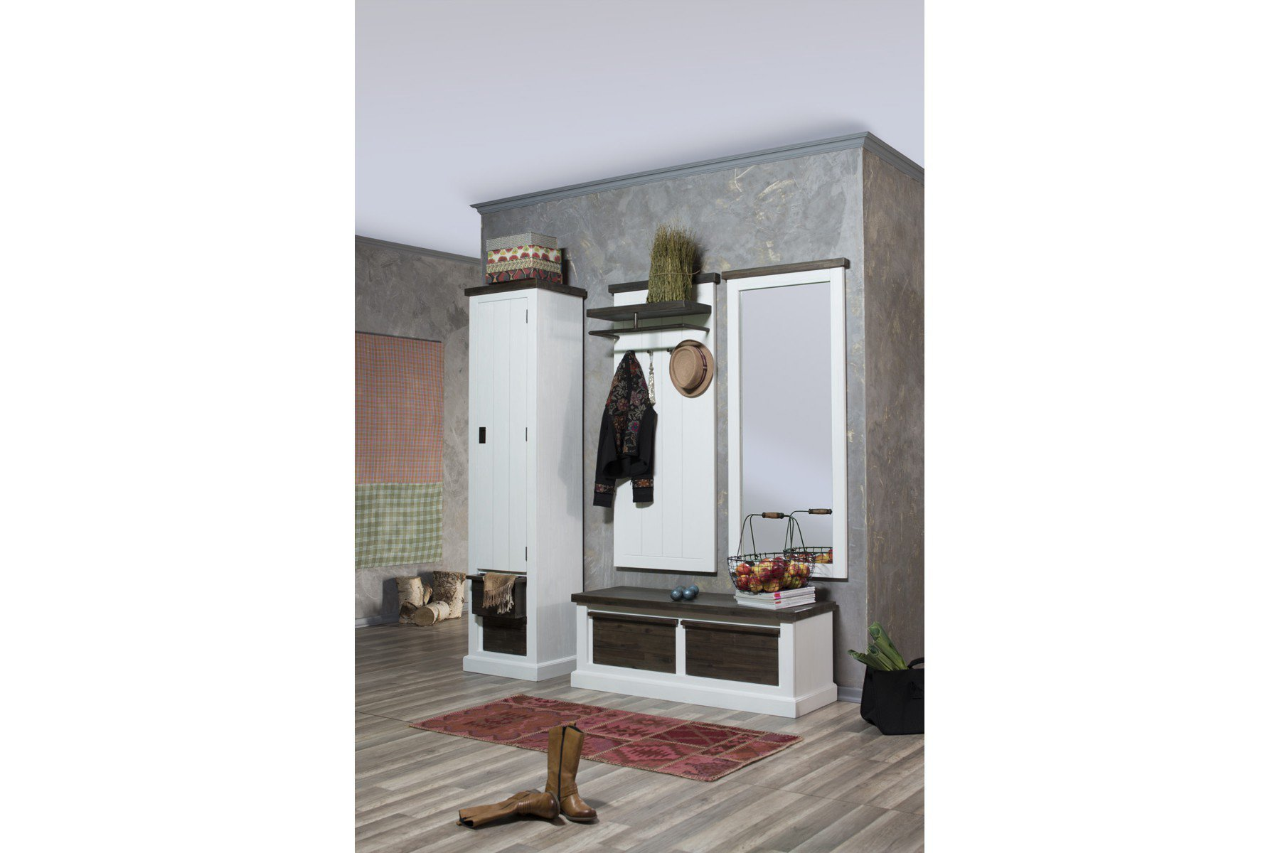 ideal group garderobe loft akazienholz teil massiv m bel letz ihr online shop. Black Bedroom Furniture Sets. Home Design Ideas