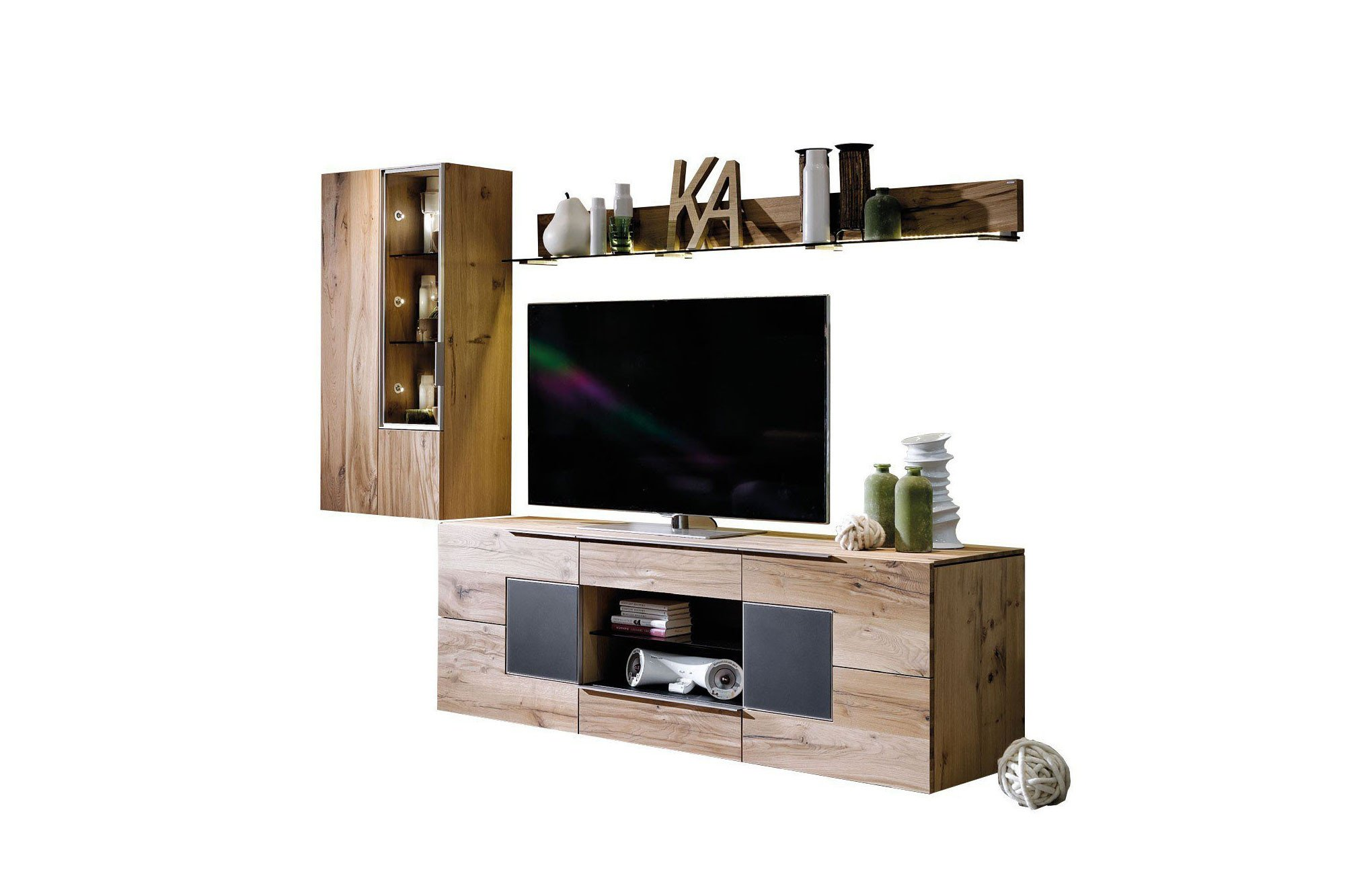 voglauer wohnwand v alpin 168 eiche altholz anthrazit m bel letz ihr online shop. Black Bedroom Furniture Sets. Home Design Ideas
