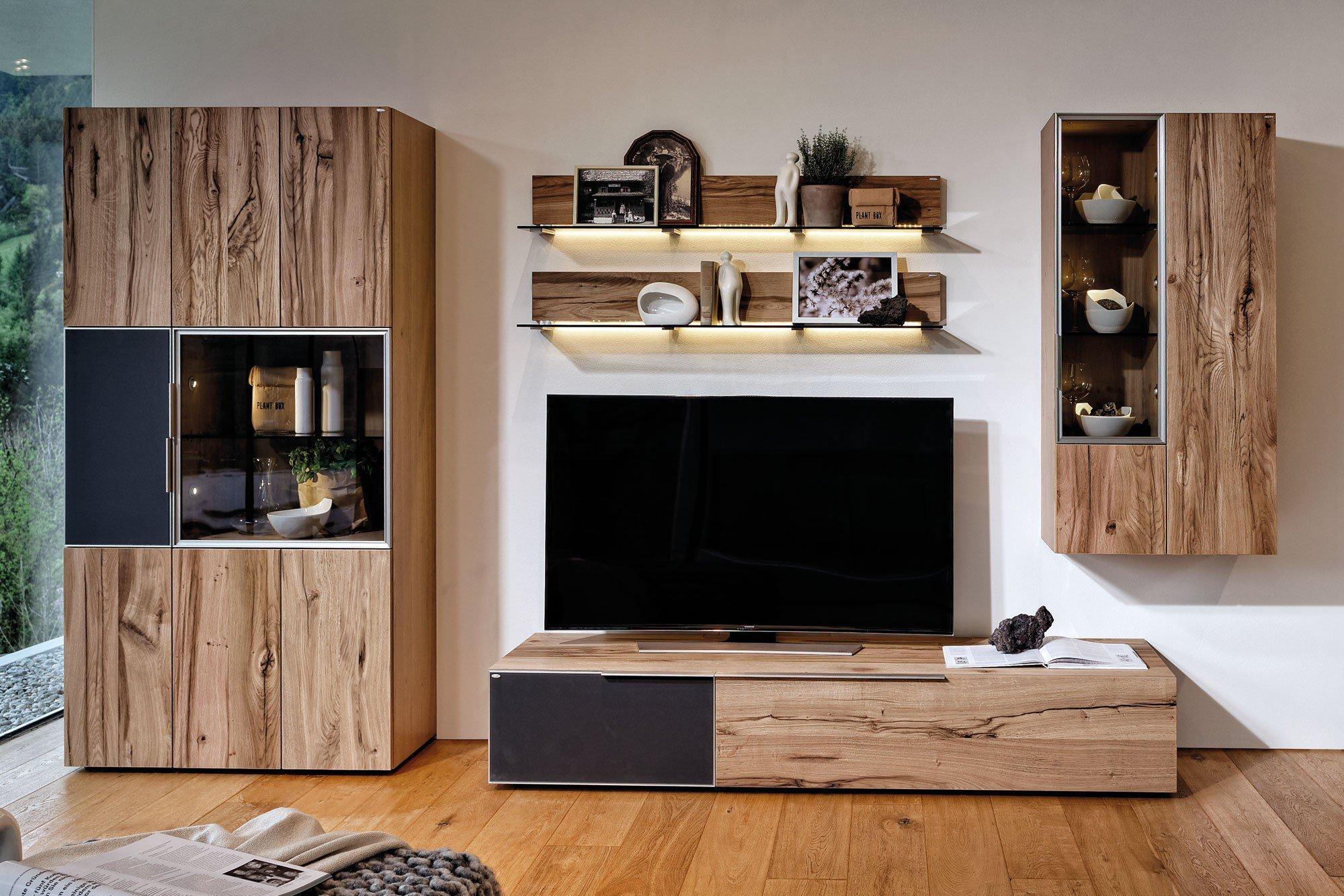 wohnwand anthrazit interesting trendteam flo wohnwand anbauwand hochglanz wei absetzungen. Black Bedroom Furniture Sets. Home Design Ideas