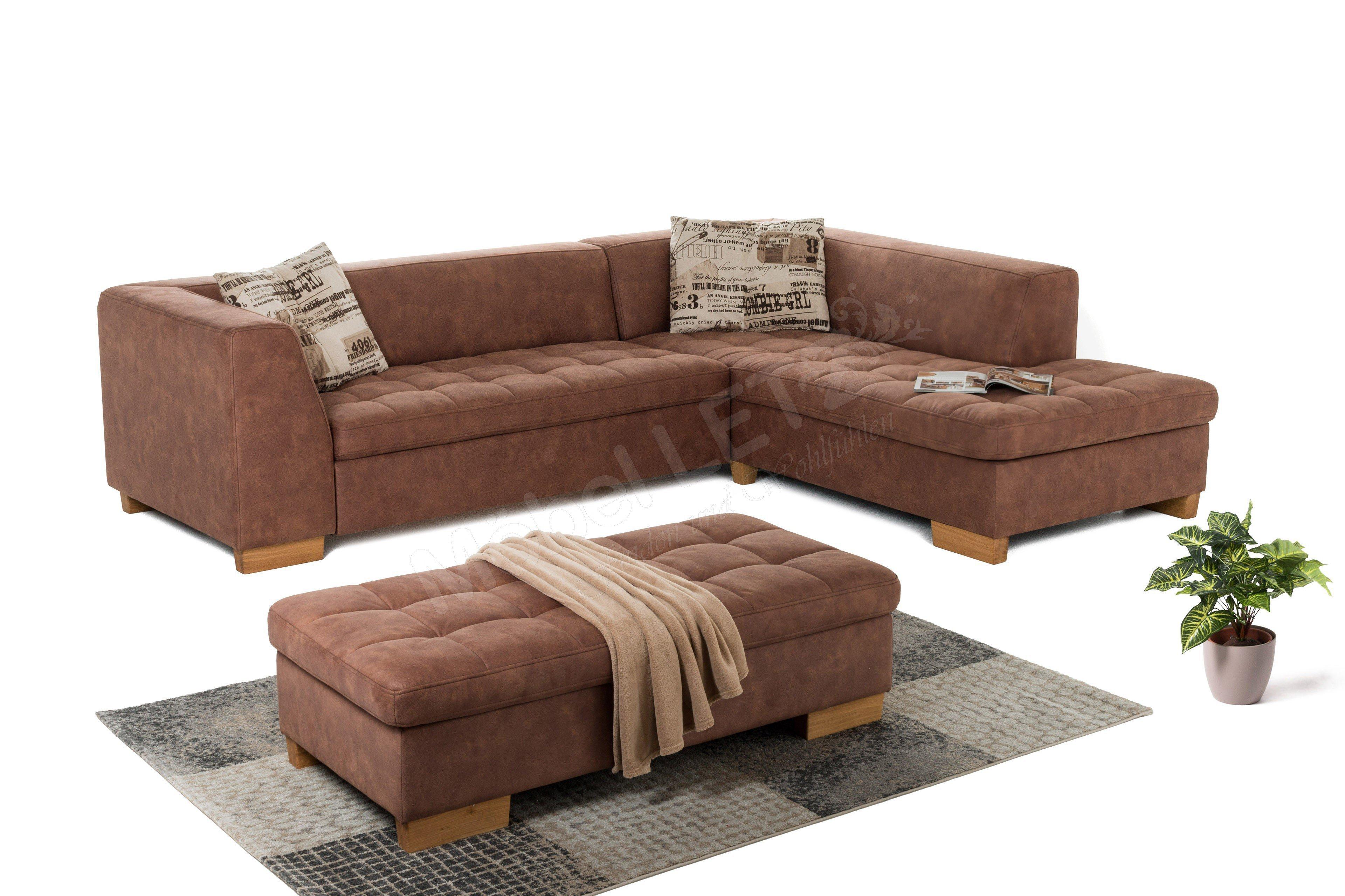 pora polsterm bel prado polsterecke in braun m bel letz ihr online shop. Black Bedroom Furniture Sets. Home Design Ideas