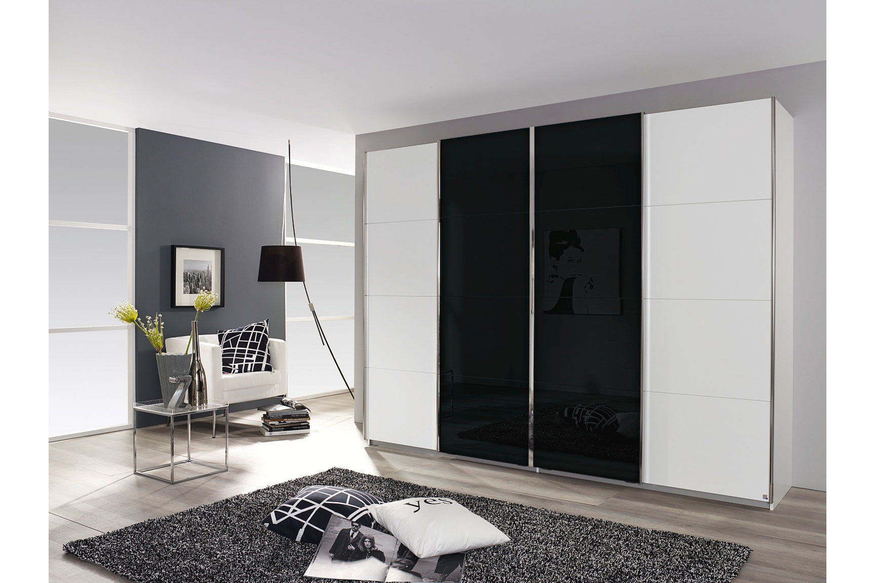 rauch syncrono 2 schrankt ren glas m bel letz ihr online shop. Black Bedroom Furniture Sets. Home Design Ideas