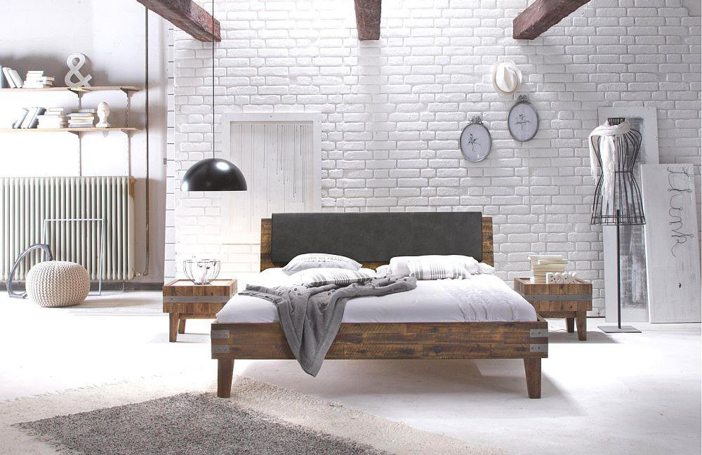 factory line gola bett akazie brown m bel letz ihr online shop. Black Bedroom Furniture Sets. Home Design Ideas
