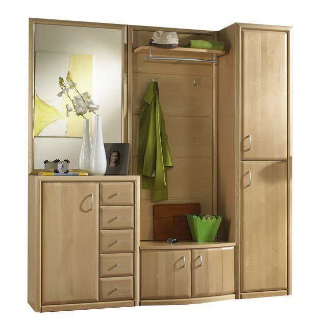 garderobe serie 600 birke leinkenjost m bel letz ihr. Black Bedroom Furniture Sets. Home Design Ideas