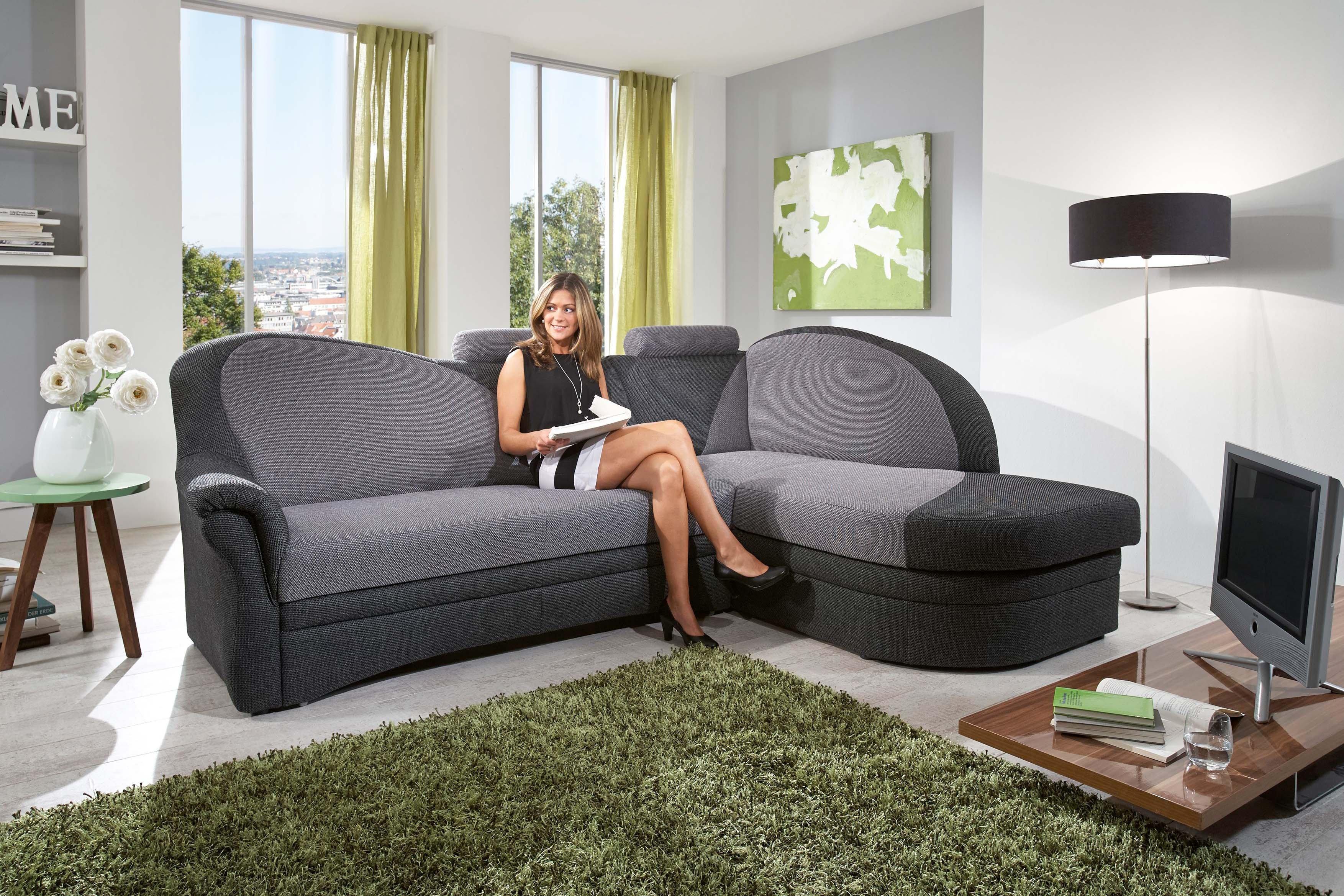 helsinki von polipol polstergarnitur rechts alu anthrazit - Eckschlafsofa Die Praktischen Sofa Fur Ihren Komfort
