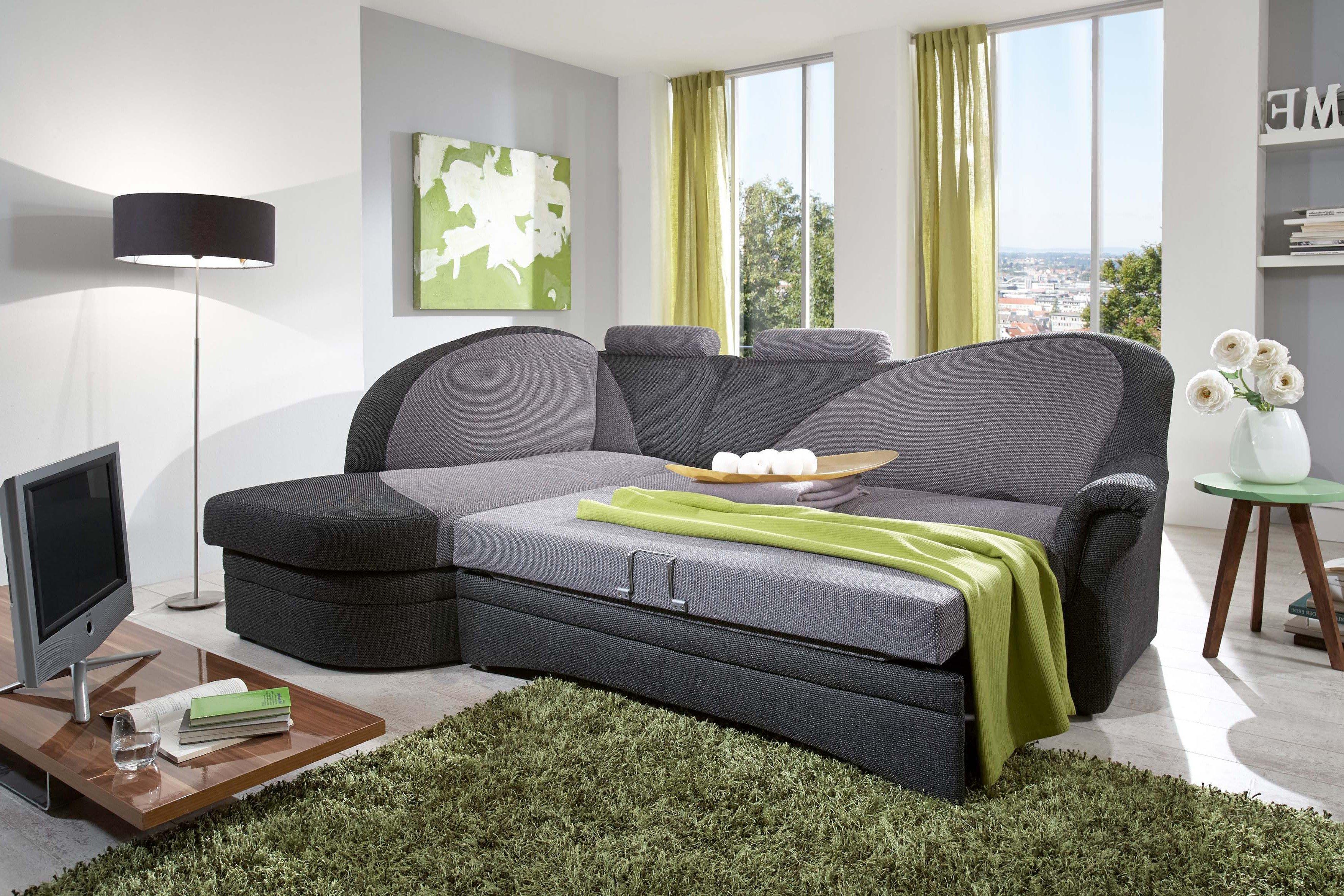 polipol polsterm bel helsinki eckcouch grau anthrazit. Black Bedroom Furniture Sets. Home Design Ideas