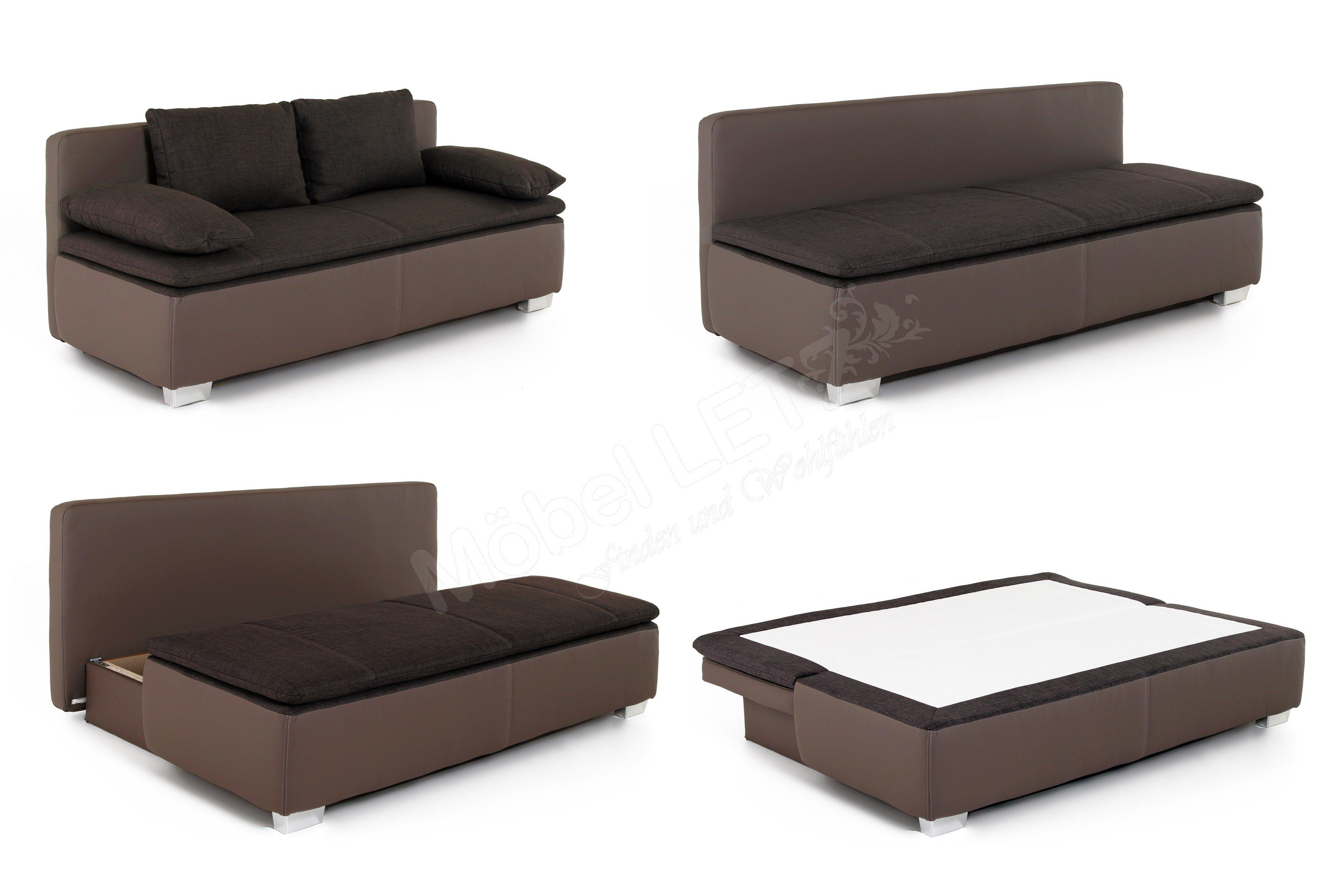 jockenh fer schlafsofa duett in braun m bel letz ihr online shop. Black Bedroom Furniture Sets. Home Design Ideas