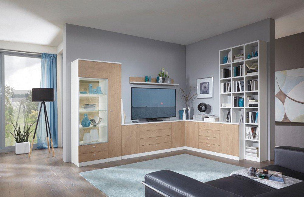 wohnwand ber eck wei interessante ideen. Black Bedroom Furniture Sets. Home Design Ideas