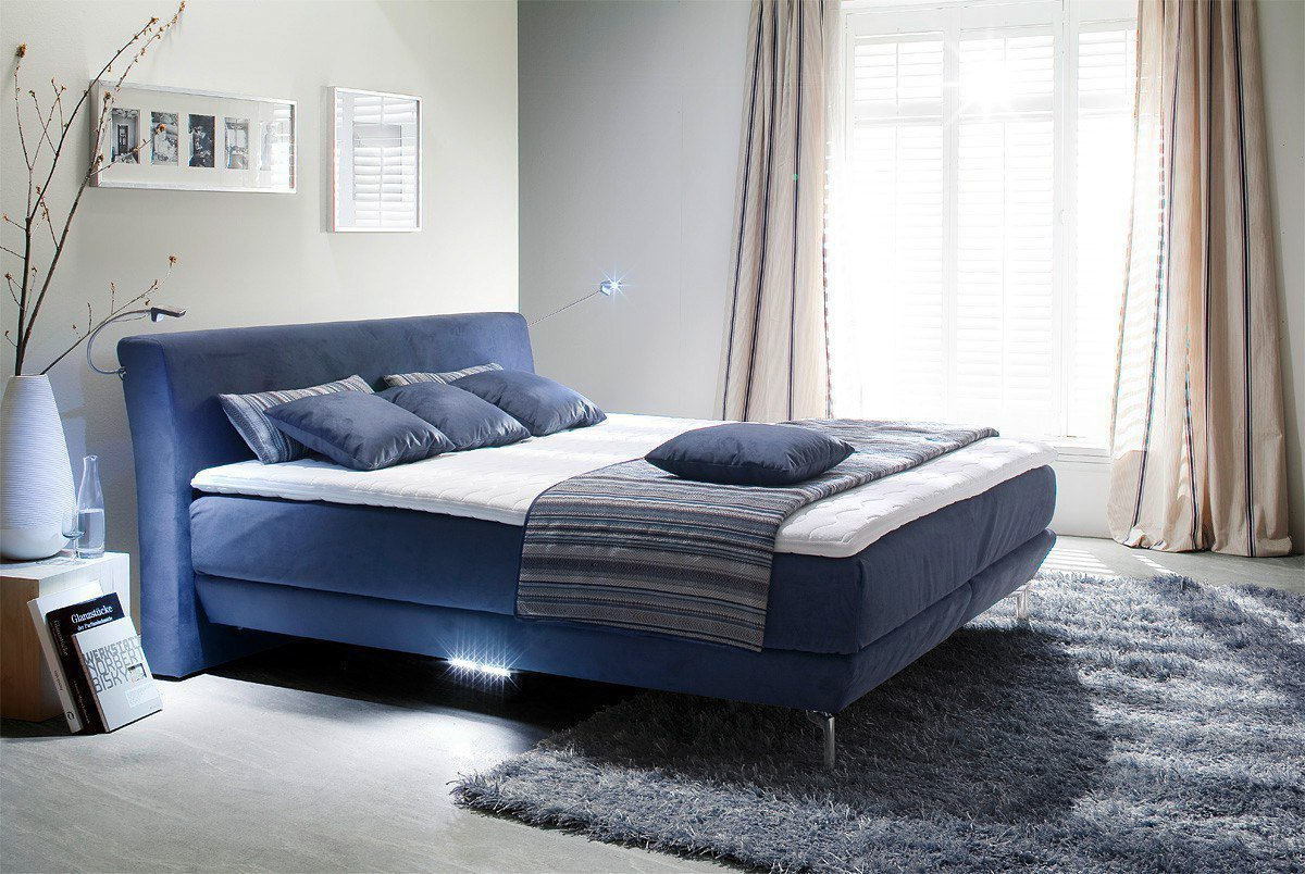 boxspringbett belcanto dream von oschmann in blau m bel letz ihr online shop. Black Bedroom Furniture Sets. Home Design Ideas