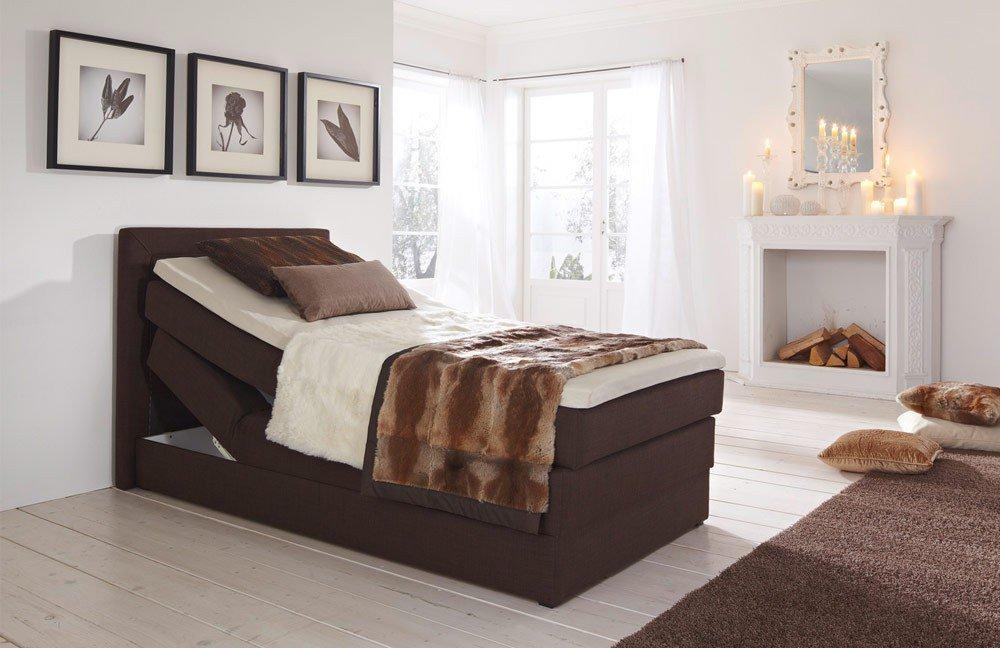 hapo boxspringbett oregon braun ca 100 x 200 cm m bel letz ihr online shop. Black Bedroom Furniture Sets. Home Design Ideas