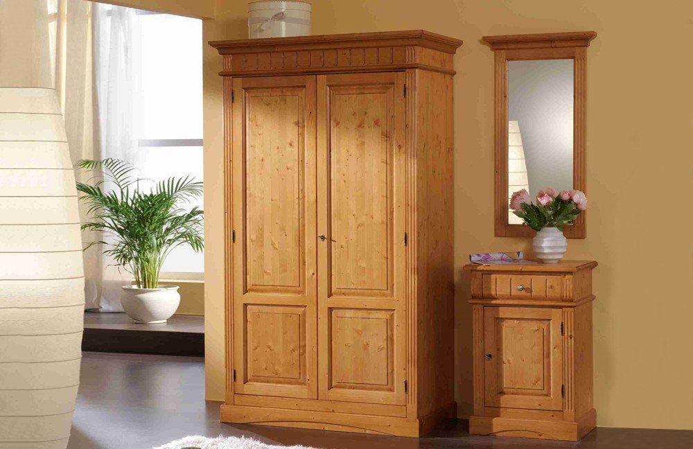garderobe lara fichtenholz gradel m bel letz ihr online shop. Black Bedroom Furniture Sets. Home Design Ideas