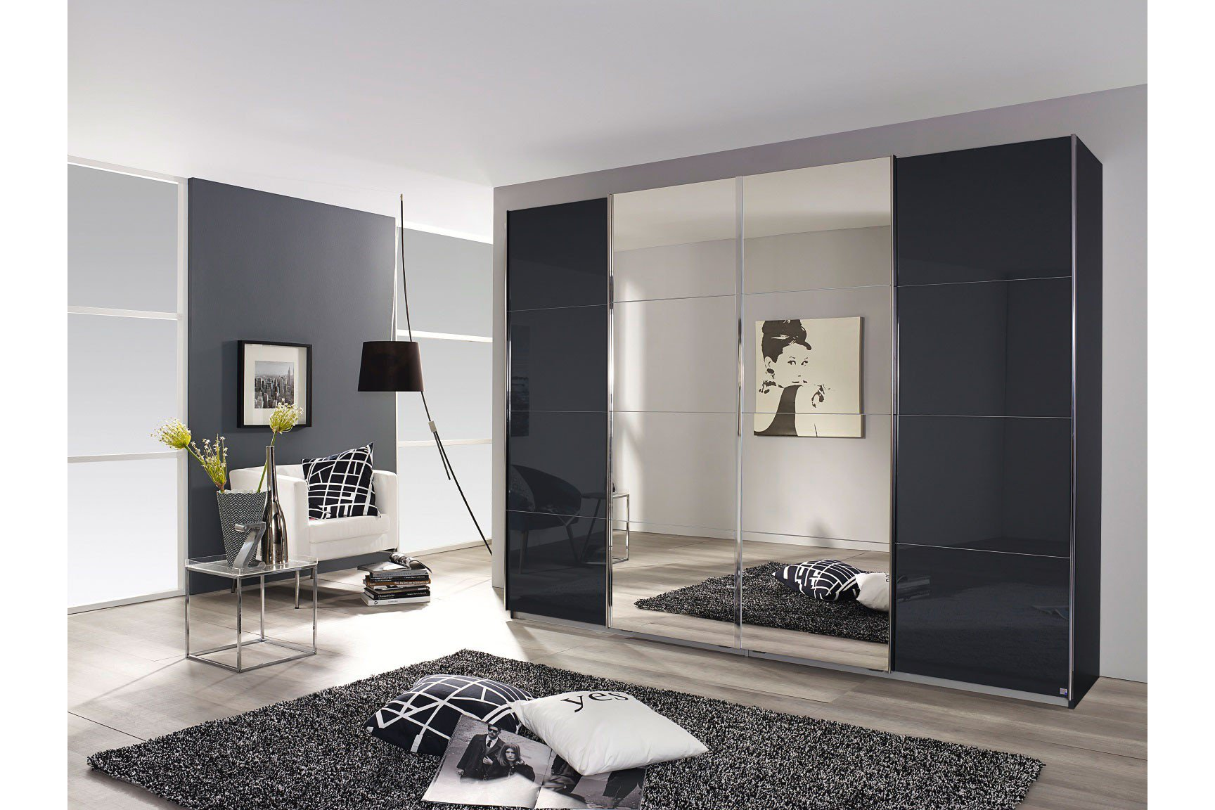 schwebet renschrank grau eiche. Black Bedroom Furniture Sets. Home Design Ideas