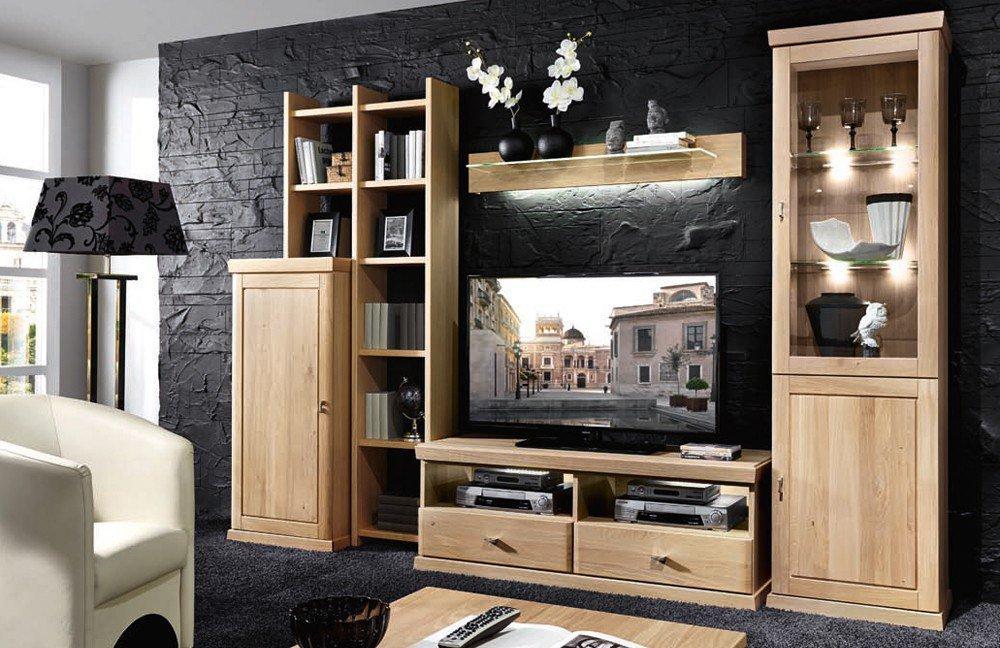 schr der m bel wohnwand cottage k005 asteiche m bel letz ihr online shop. Black Bedroom Furniture Sets. Home Design Ideas