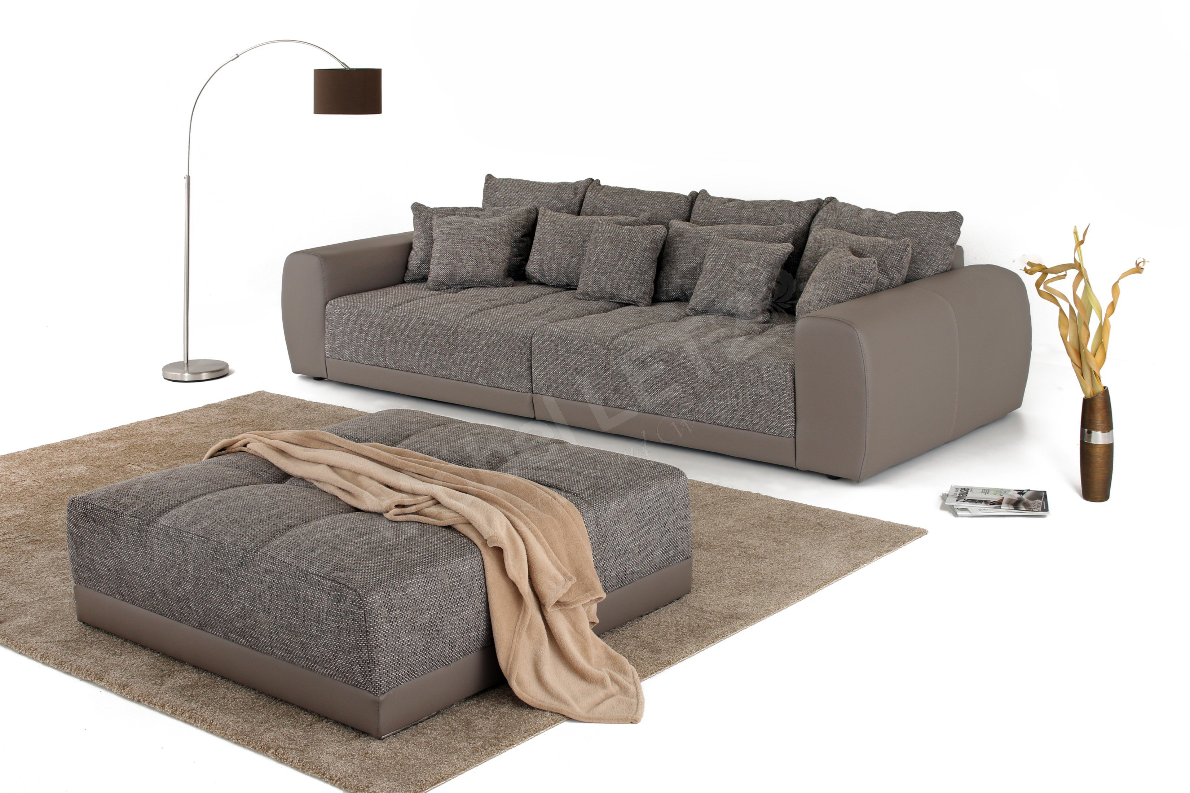 jockenh fer big sofa samy in braun m bel letz ihr online shop. Black Bedroom Furniture Sets. Home Design Ideas