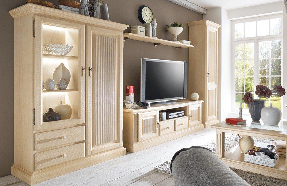 rojas mobiliario wohnwand cadiz c pinienholz m bel letz ihr online shop. Black Bedroom Furniture Sets. Home Design Ideas