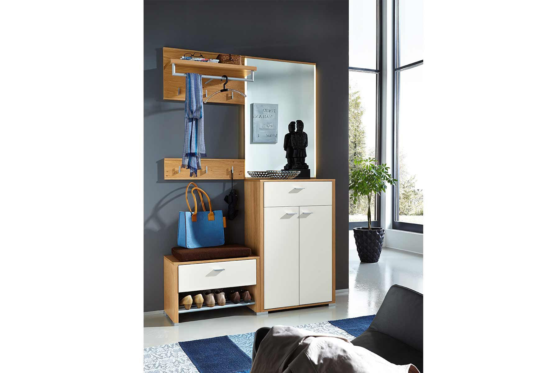 garderobe florenz wei eiche leinkenjost m bel letz. Black Bedroom Furniture Sets. Home Design Ideas