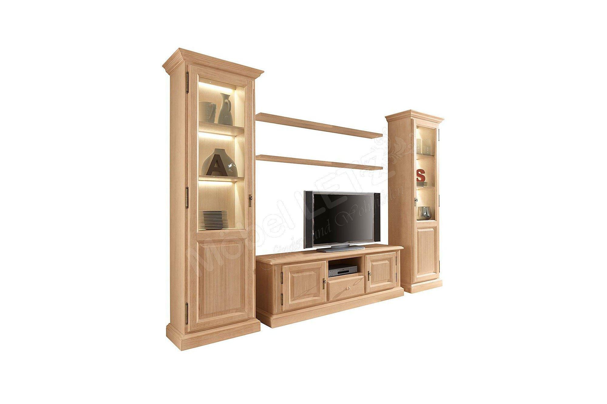 rojas mobiliario wohnwand cadiz 000 pinie m bel letz ihr online shop. Black Bedroom Furniture Sets. Home Design Ideas