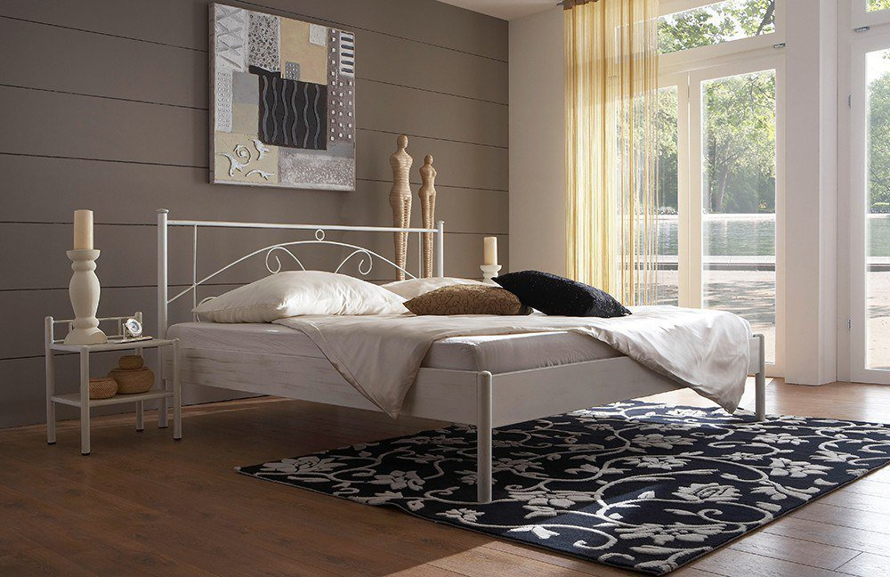 dico m bel metallbett wei m bel letz ihr. Black Bedroom Furniture Sets. Home Design Ideas