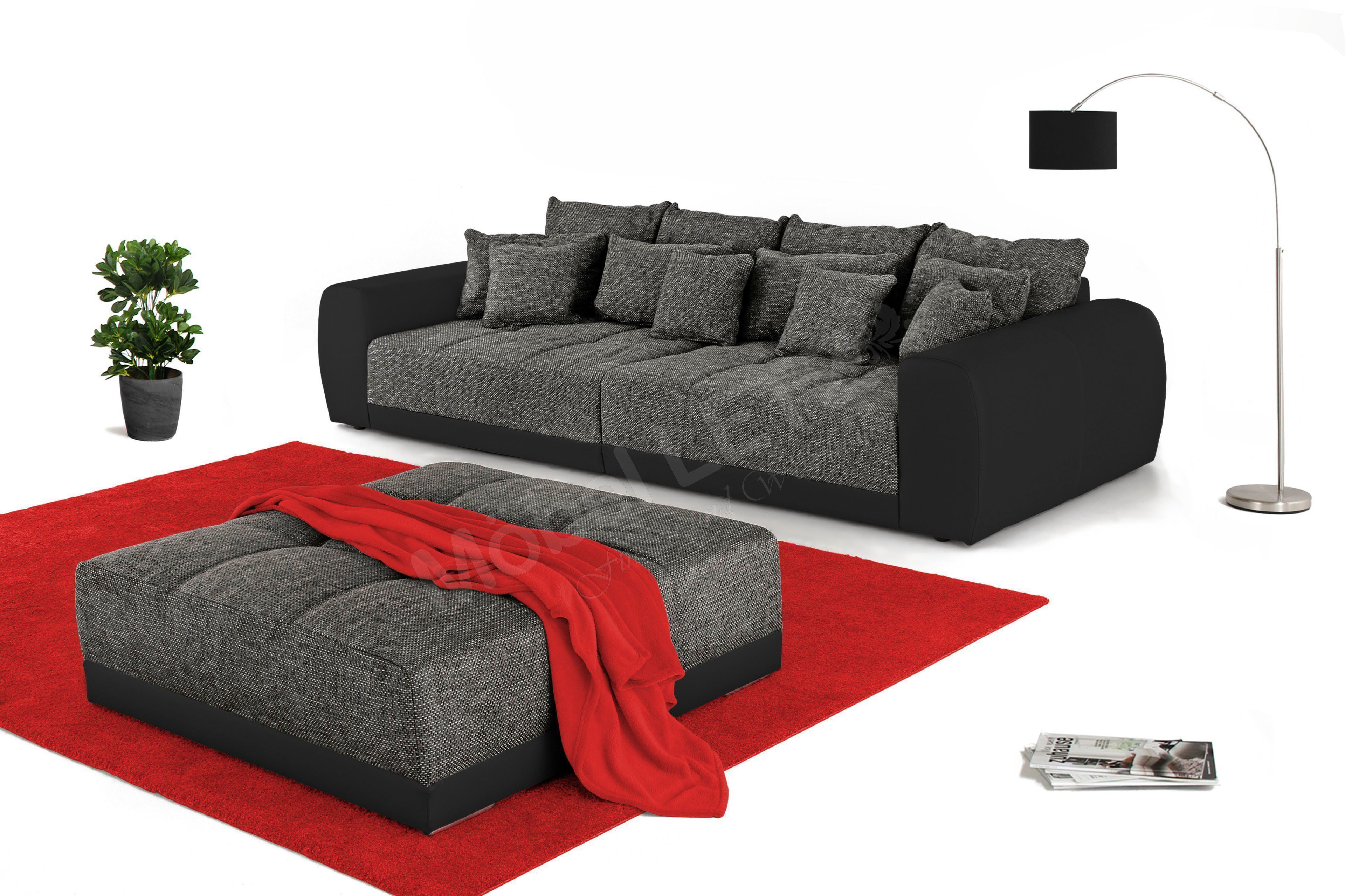 Jockenhöfer Mega Sofa Samy In Grau Schwarz Möbel Letz Ihr Online