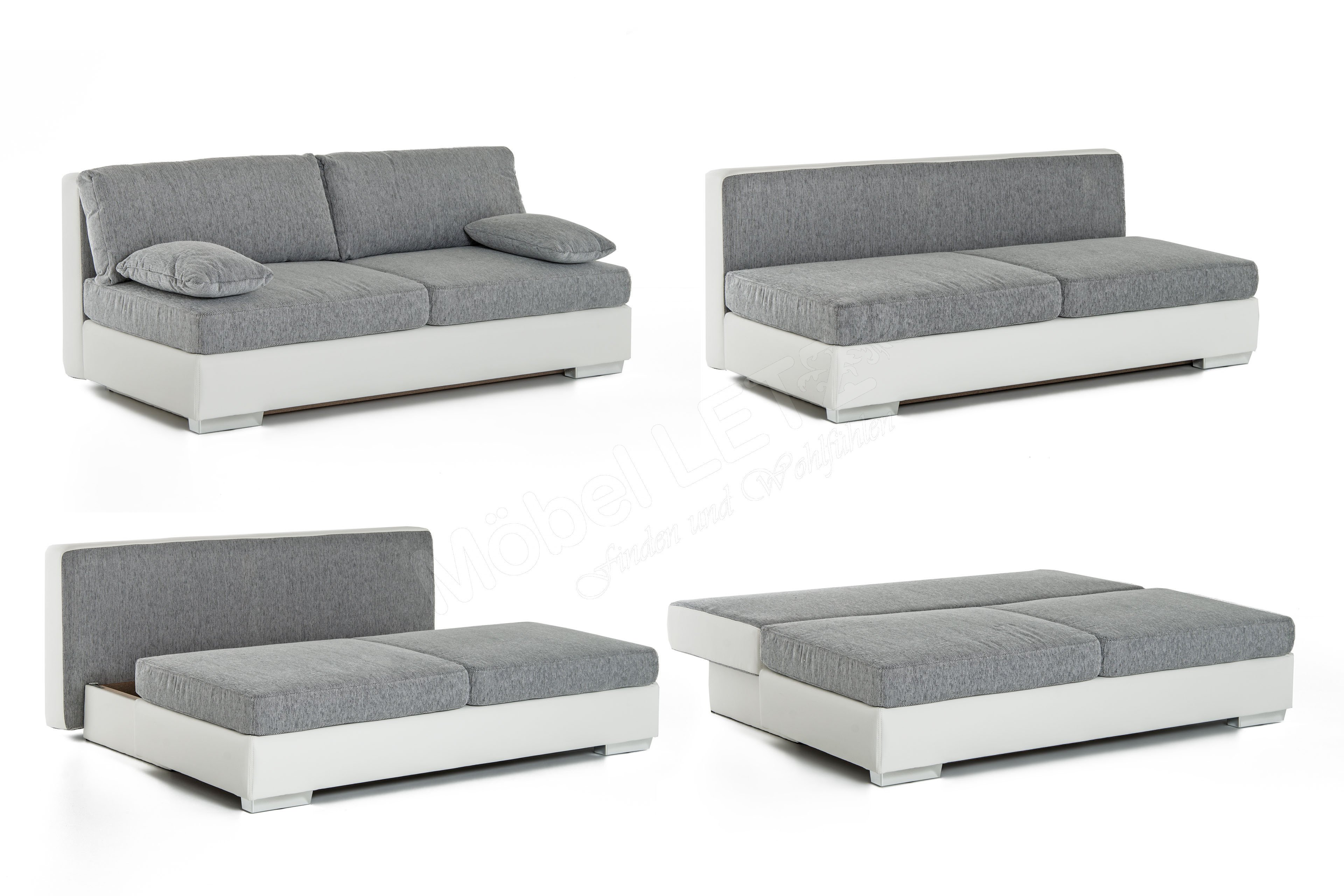 jockenh fer schlafsofa dorset in wei grau m bel letz ihr online shop. Black Bedroom Furniture Sets. Home Design Ideas