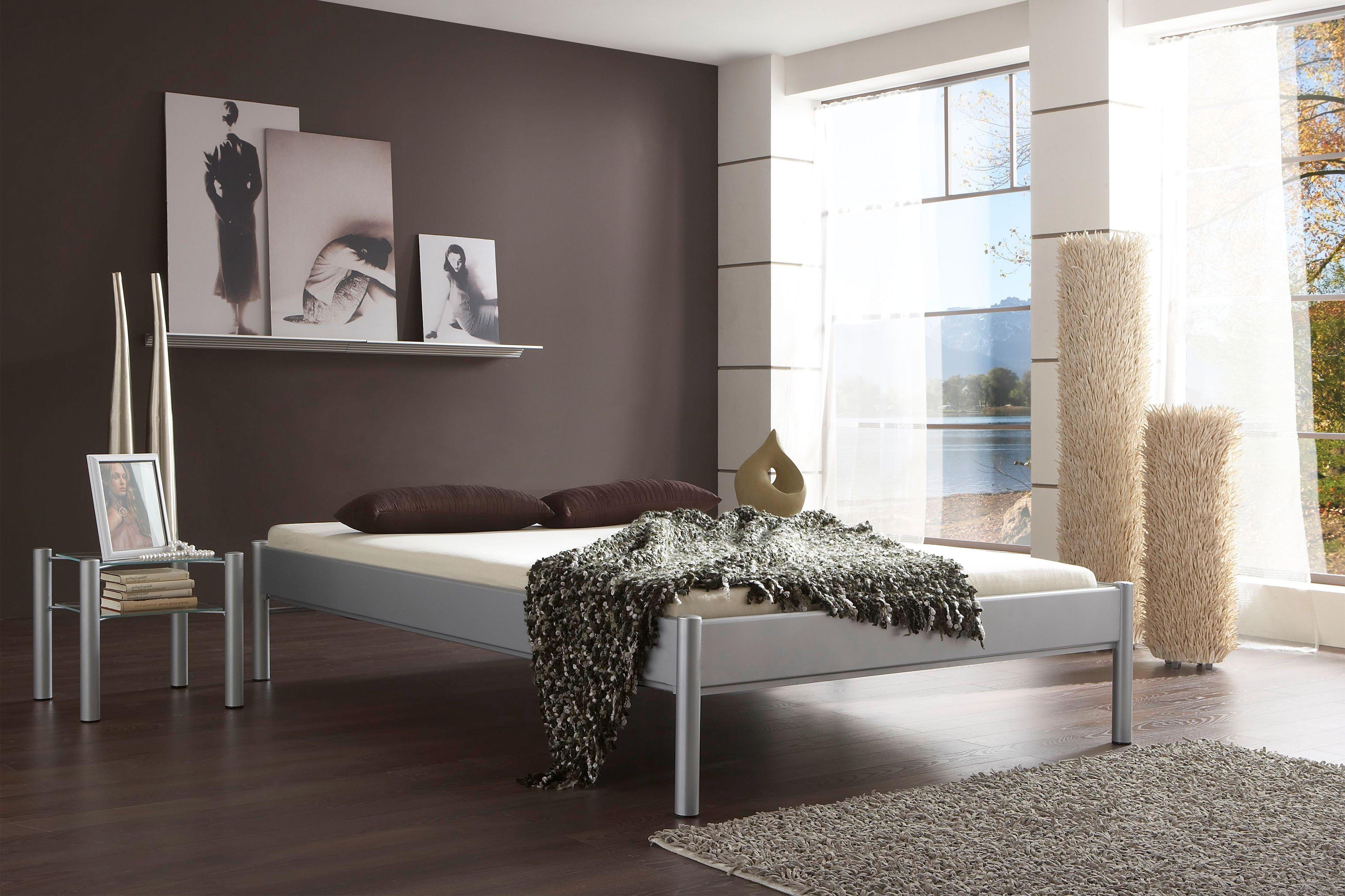 metallbett silber 140x200 free sam himmelbett x cm venezia metallbett cremewei inklusive. Black Bedroom Furniture Sets. Home Design Ideas