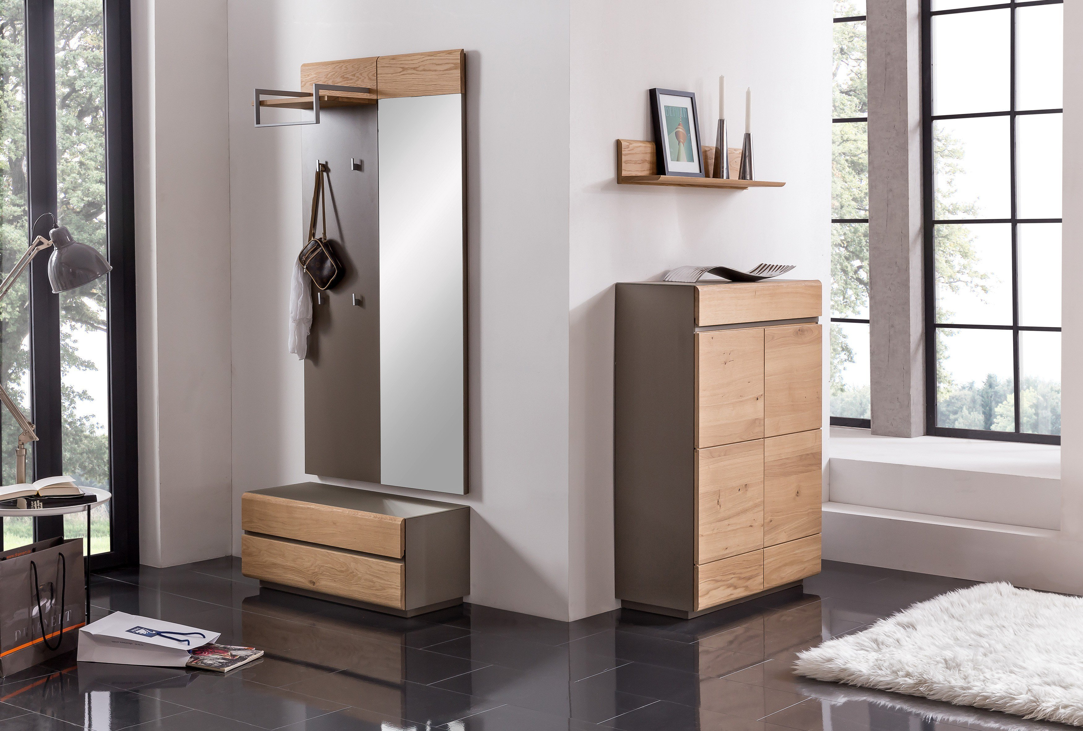 garderobe 01 wildeiche granit von bienenm hle m bel letz ihr online shop. Black Bedroom Furniture Sets. Home Design Ideas