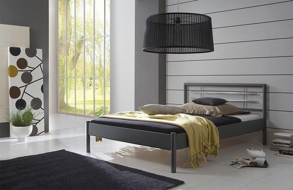 Dico Möbel 2000.03 Metallbett dunkelgrau | Möbel Letz - Ihr Online-Shop