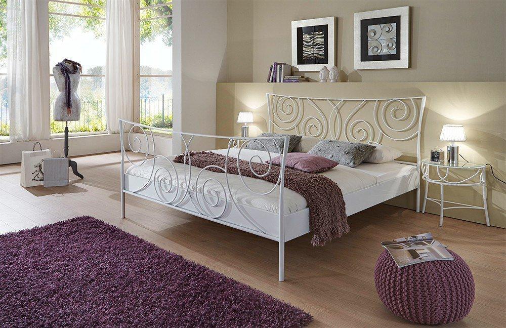 dico m bel parma metallbett wei m bel letz ihr. Black Bedroom Furniture Sets. Home Design Ideas
